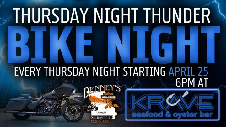 Bike Night: Thursday Night Thunder at Krave